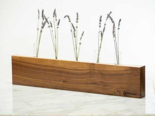 Walnut Bud Vase - Natural Edge picture