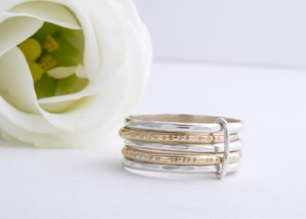 Stackable Gold and Silver Ring