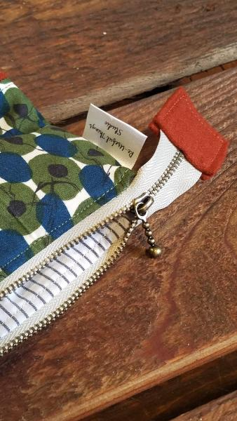 Upcycled Carry-All Pouch | Funky Circle Motif & Wool picture