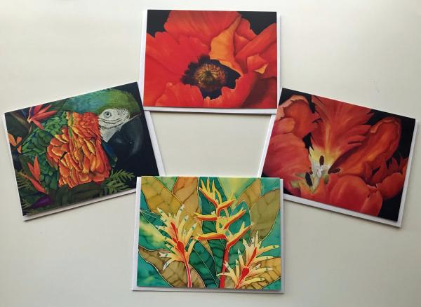 Greeting Cards - 4 Art Images - 8 Cards