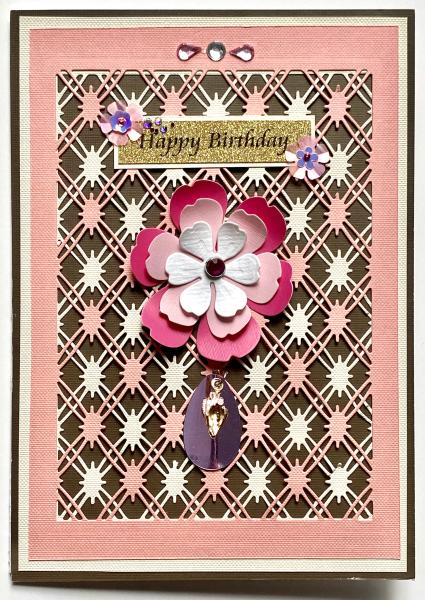Birthday Card with Plated Rose Gold Shell