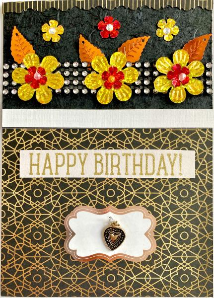 Birthday Card w/ Heart Charm