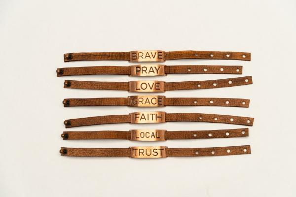 Leather Reminder Bracelet