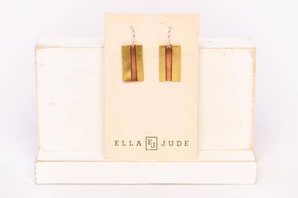 Short Mixed Metal Earrings