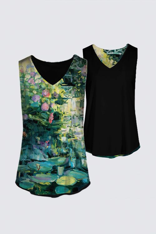 """Water Lily Pond"" -- Designer Tank Top"