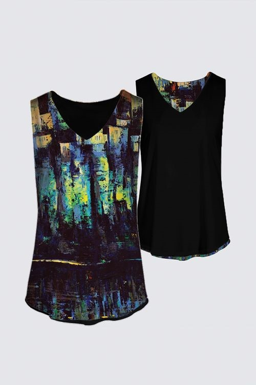 """Reflections"" -- Designer Tank Top"