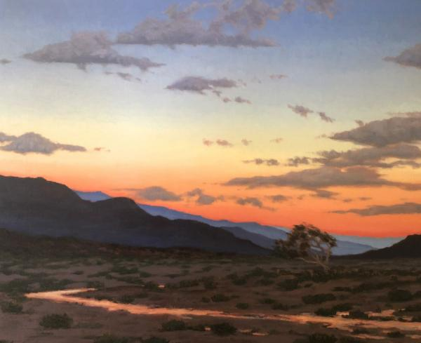 "Arroyo in the Afterglow 30"" w x 24"" h"