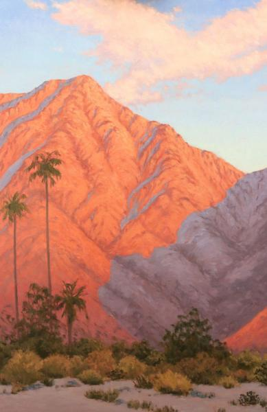 "First Light on the Mountains 24"" w x 36""h"