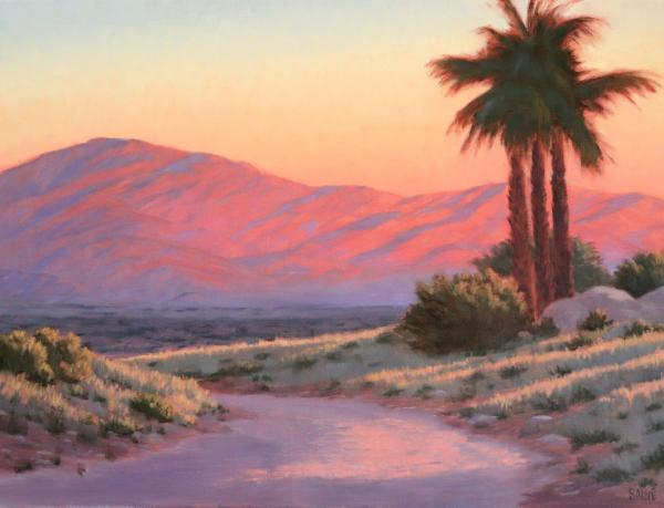 "Coachella Valley Sunset 24""w x 18"" h"