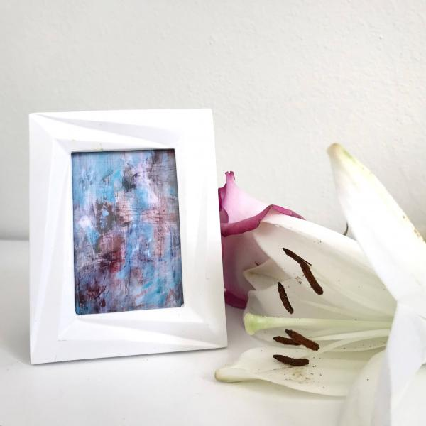 Bold Flesh Original Abstract Print in White Mini Frame