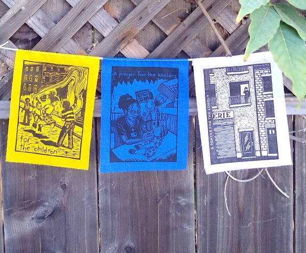Prayer Flags - String of 3 original prints (3-37C)