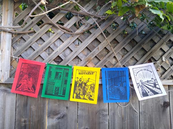 Prayer Flags - String of 5 original prints (5-36C) picture