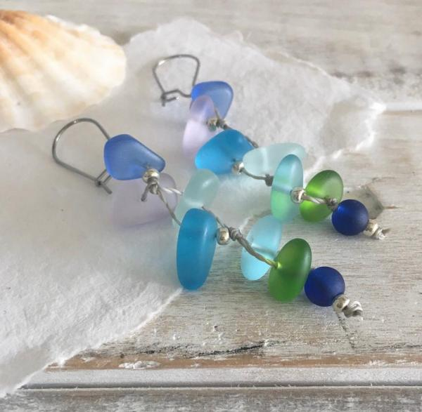 Fishtail Mermaid Sea Glass Earrings