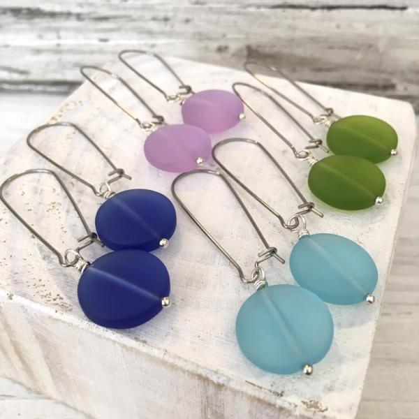 Sea Glass Coin Earrings
