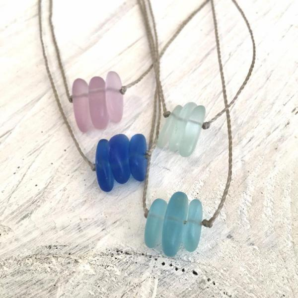 SURF Sea Glass Pebble Choker or Necklace