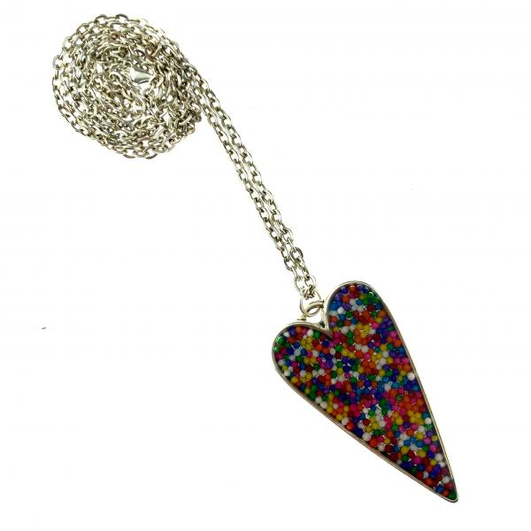 Rainbow Sprinkle Heart Silver picture