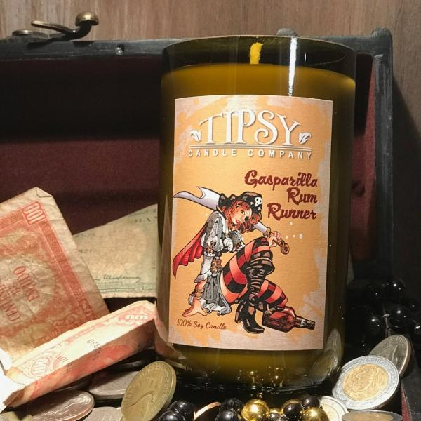 Gasparilla Rum Runner | Soy Wine Bottle Candle picture