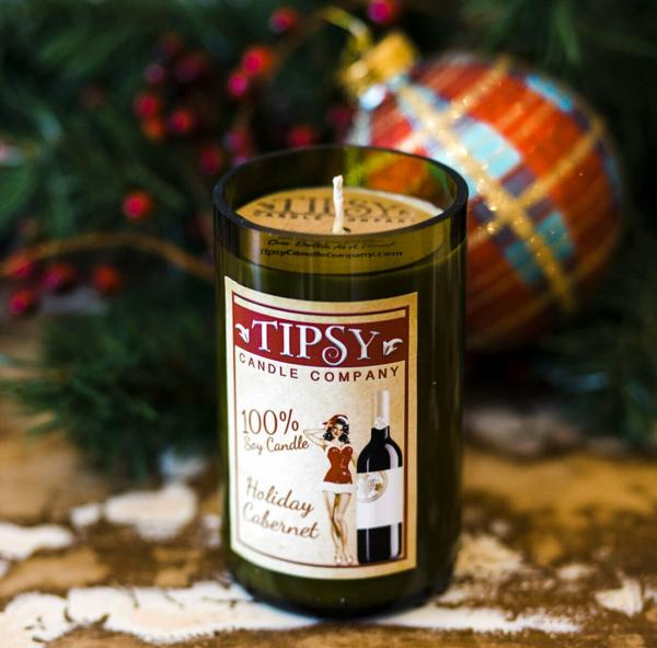 Holiday Cabernet | Soy Wine Bottle Candle picture