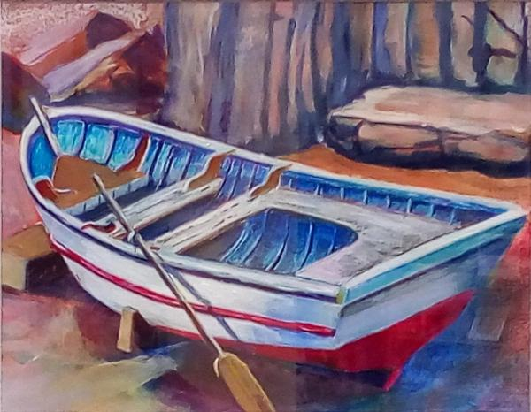 Red/White Row Boat