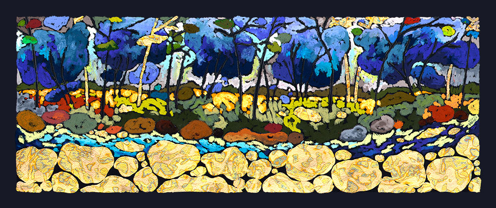 11x29 Giclee - Blue River picture