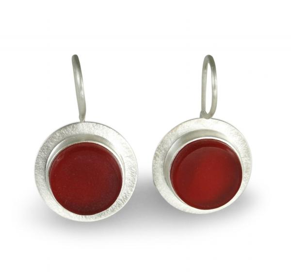 Classica Earrings in Silver and Red
