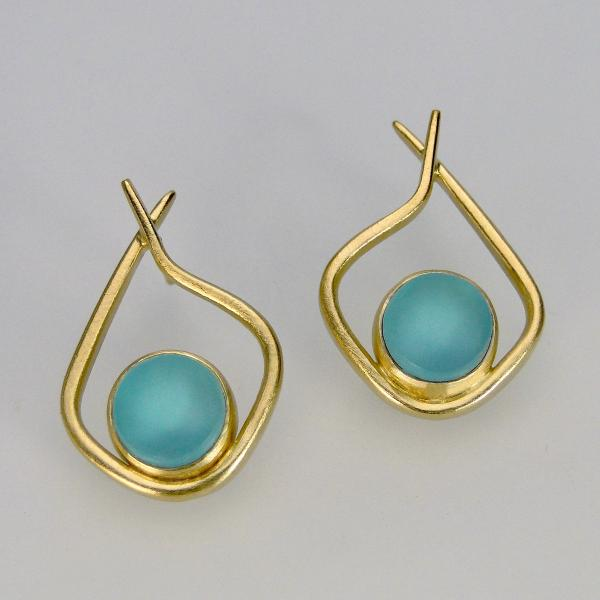 Modern Hoops in Aqua and Gold