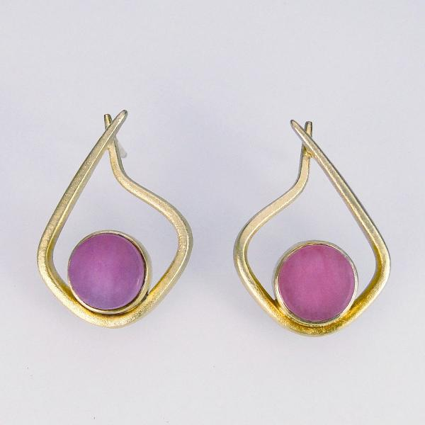 Modern Hoops in Pink and Gold
