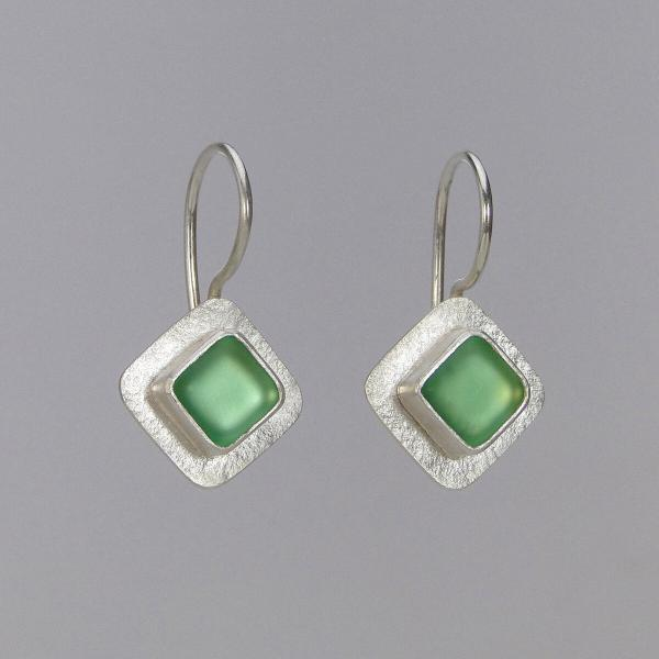 Small Diamond-Shaped Wire Earrings