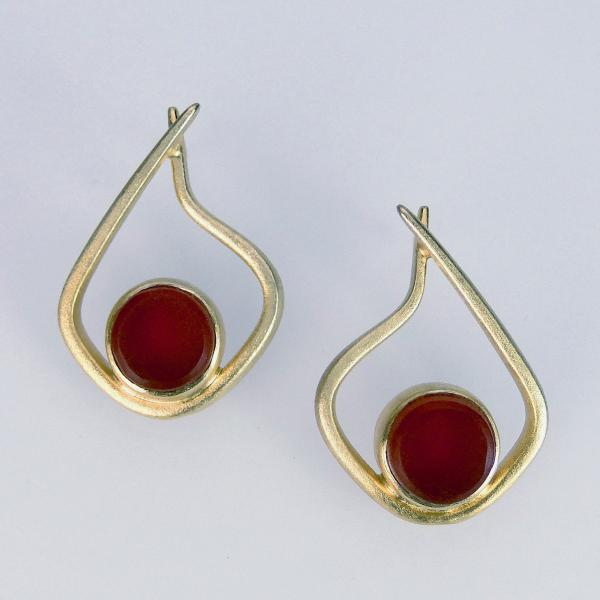 Modern Hoops in Red and Gold