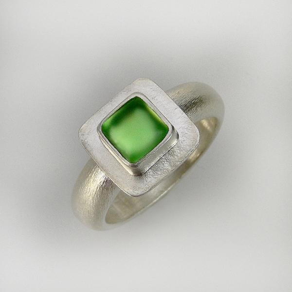 Classic Square Ring in Light Green picture