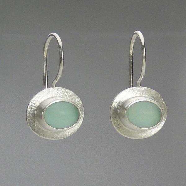 Bella Earrings in SeaFoam and Silver