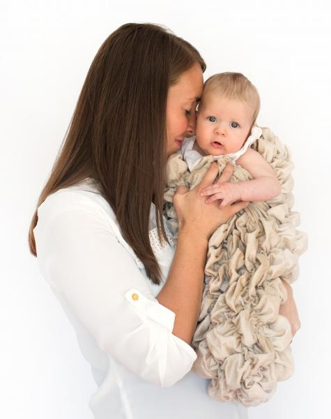 "The ""Albrea Baby Cocoon"" Luxury Handmade Swaddle Sack"