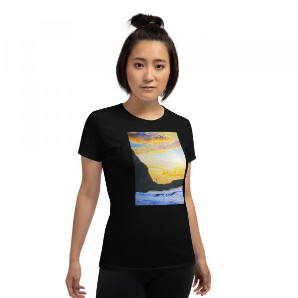 Womens short sleeve t-shirt-Late Afternoon