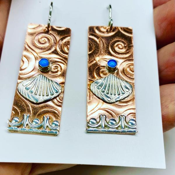 Mixed metals SP earrings picture