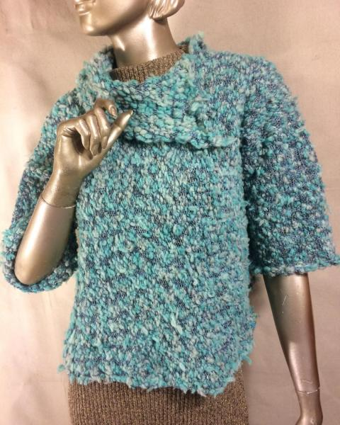 Textured Teal Sweater