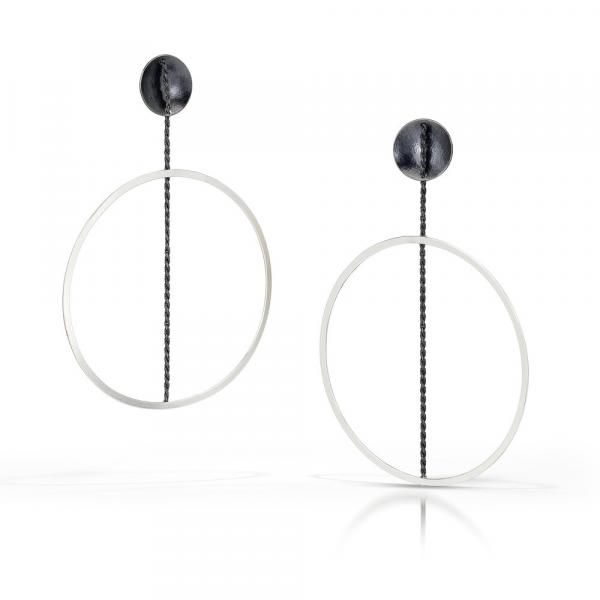 Black & White Hoop Earring