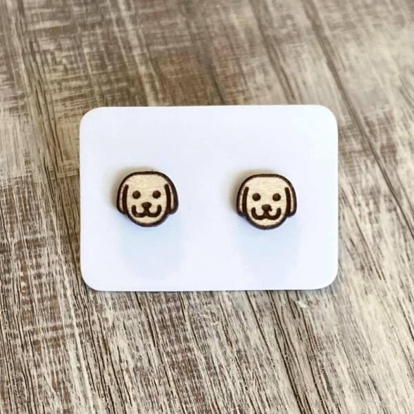 Dog Face Earring Studs
