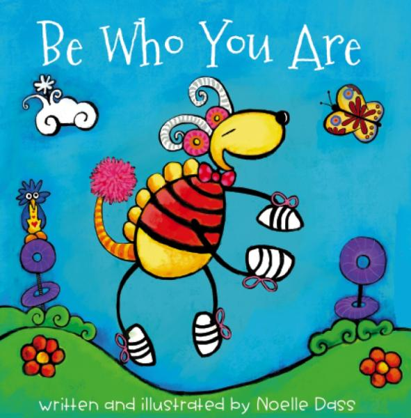 Be Who You Are Book, two stickers, and 5x7 greeting card