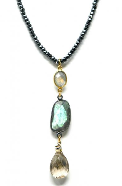 Long Triple Stone Necklace