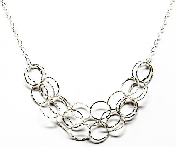 Silver Layered Rings Necklace