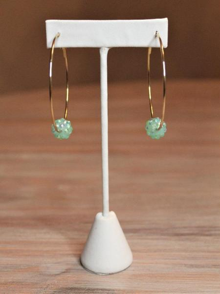 Lilly Hoop Earrings - Mint