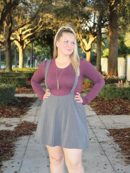 Charcoal Pinafore Dress