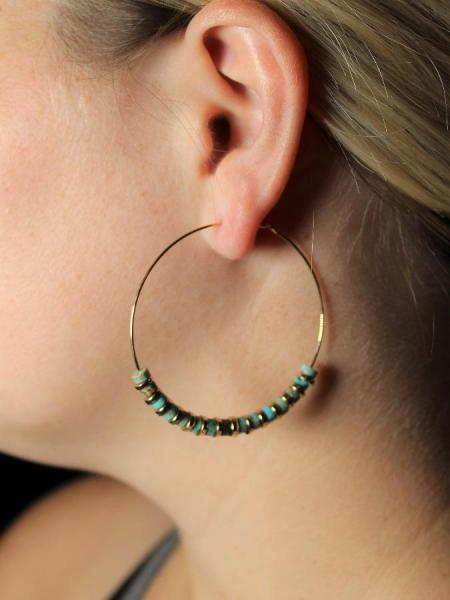 Turquoise Hoops picture