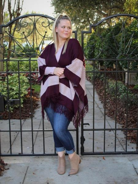 Burgundy Poncho picture