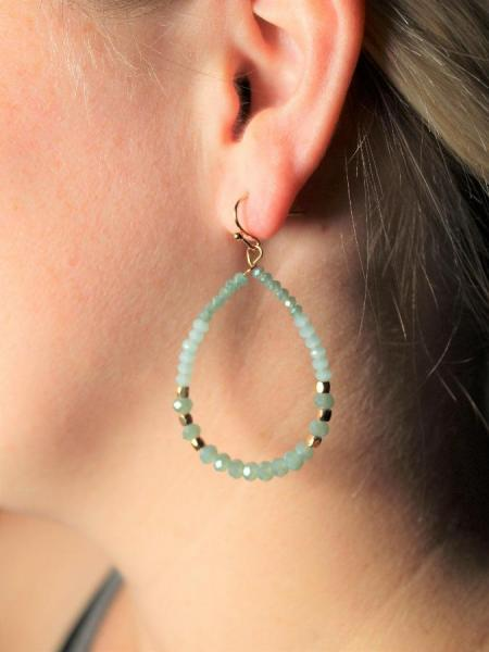 Bella Teardrop Earrings - Mint