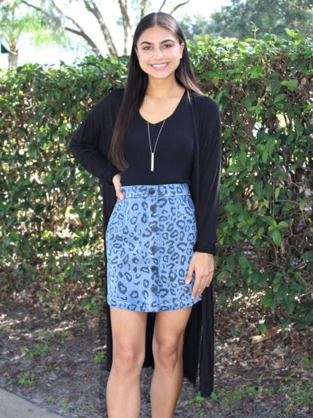 Leopard Denim Skirt picture