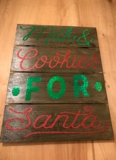 Custom Made Santa Sign