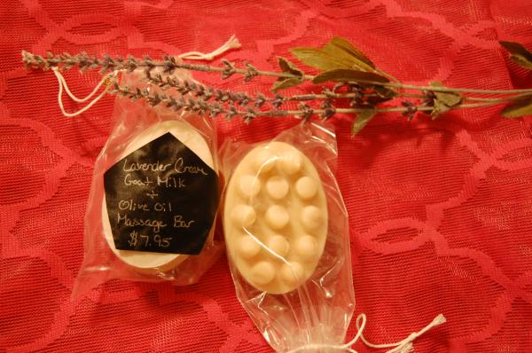 Creamy Lavender Goat Milk Massage Bars
