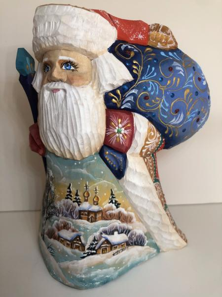 Santa Figure with Country side picture