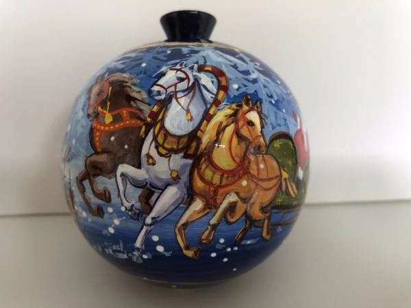 Ball with Horses Christmas tree ornament